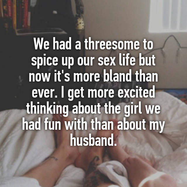 Spicing up our sex life