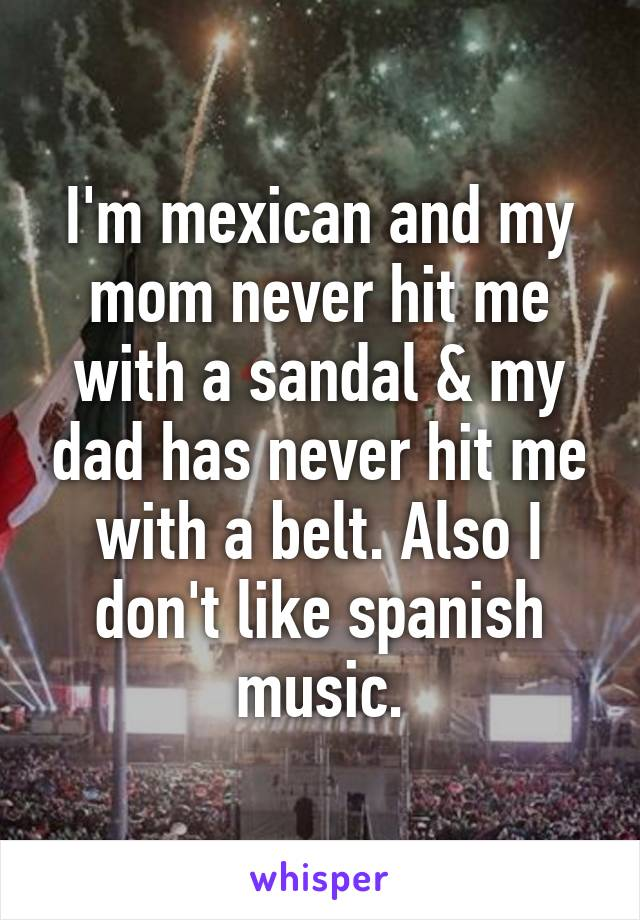 My mom hit me
