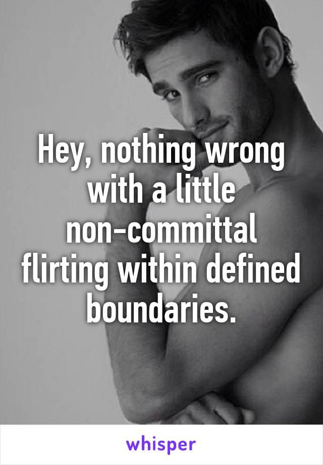Define non committal
