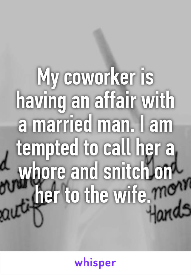 wife coworker affair