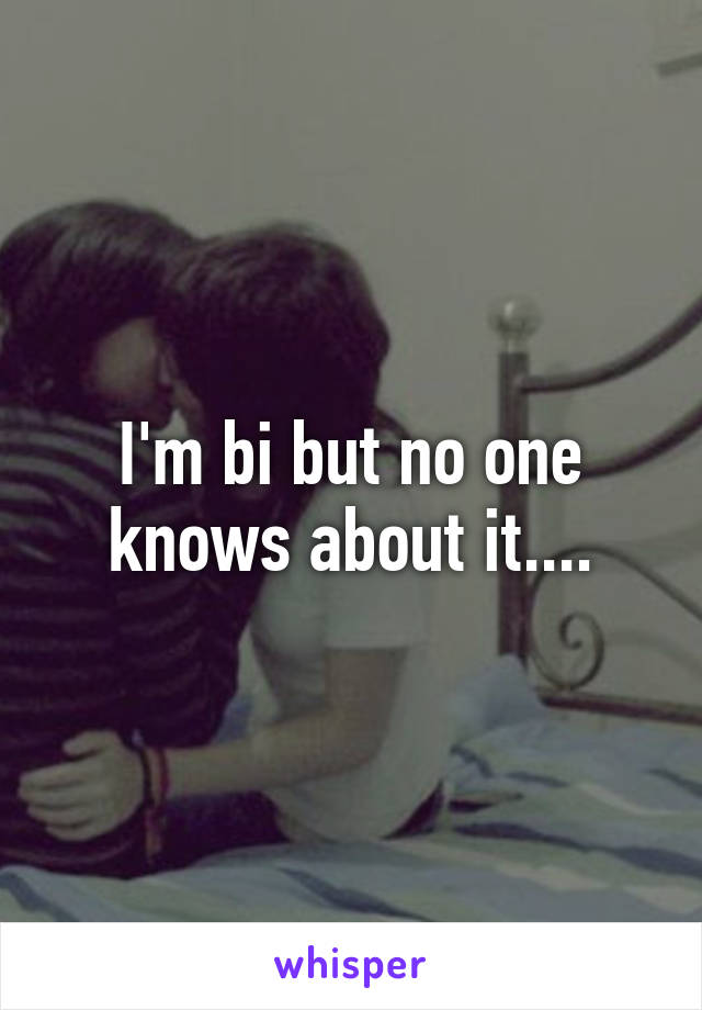 I'm bi but no one knows about it....