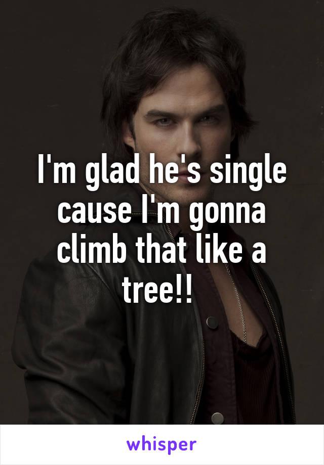 I'm glad he's single cause I'm gonna climb that like a tree!!
