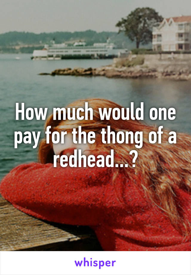 How much would one pay for the thong of a redhead...?