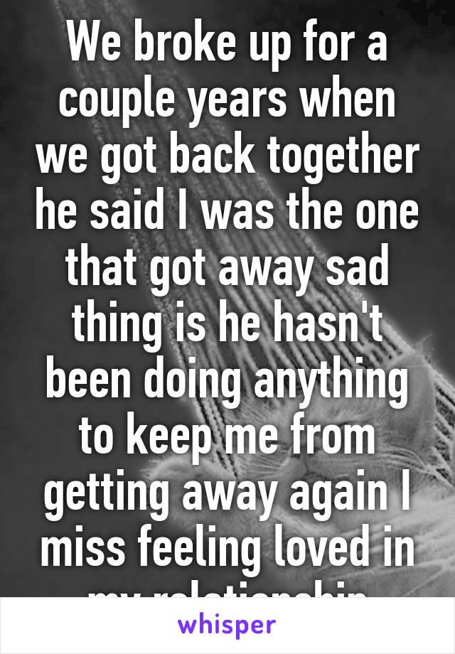 do couples ever get back together