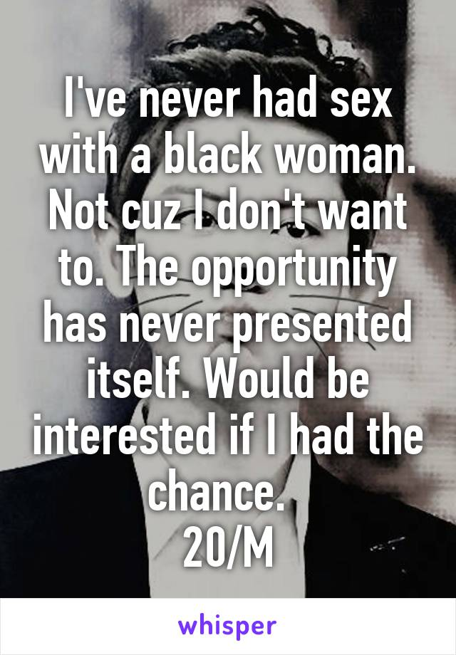 Never been interested in sex
