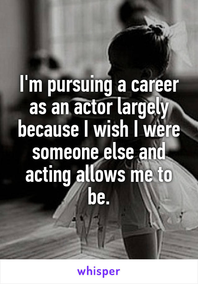 acting as someone else