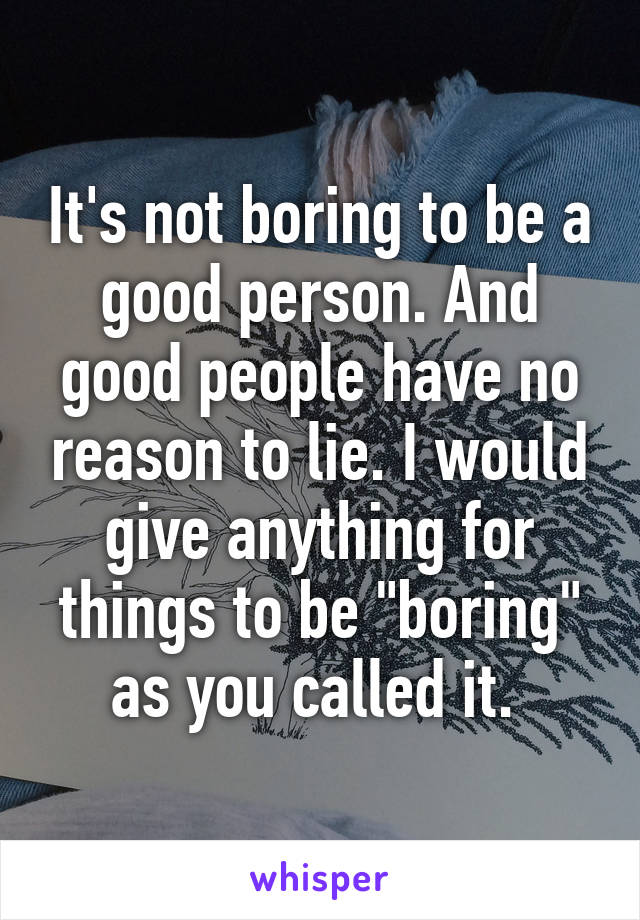 how not to be a boring person
