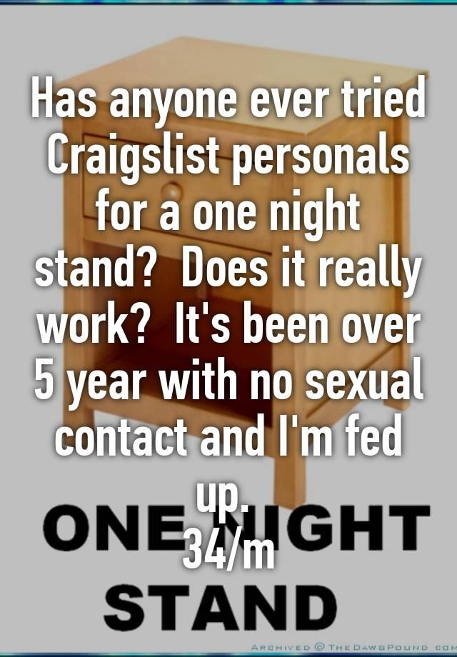 Does craigslist personals work
