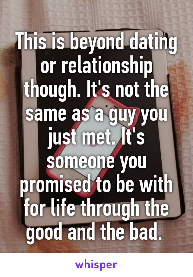 dating is the same as relationship