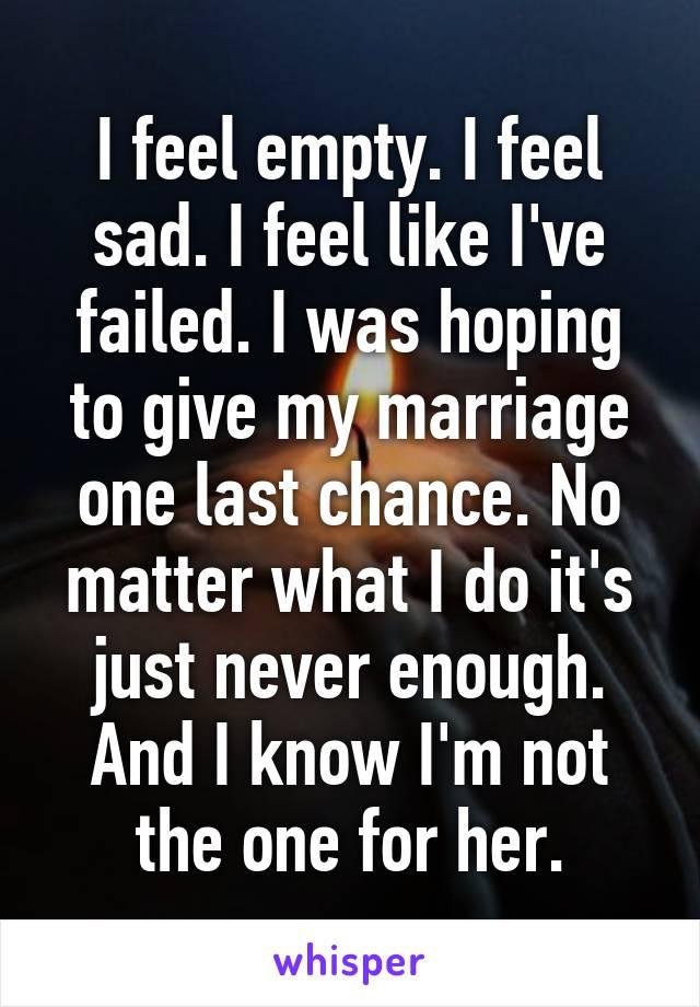 I feel empty in my marriage