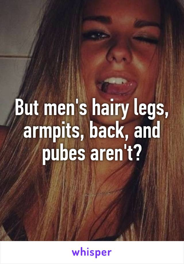Speak men with hairy pubes not