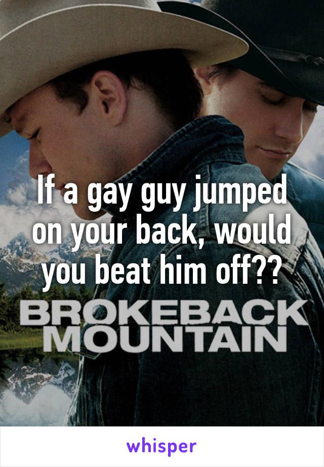 Gay beat off
