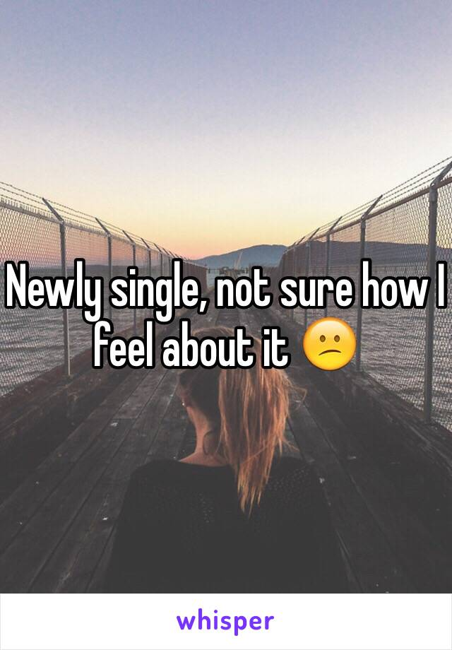 Newly single, not sure how I feel about it 😕