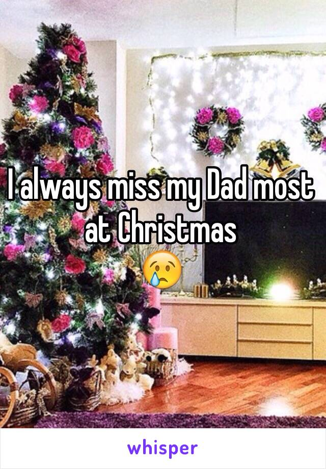 I always miss my Dad most at Christmas  😢