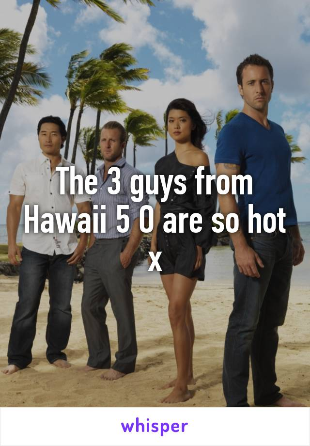 The 3 guys from Hawaii 5 O are so hot x