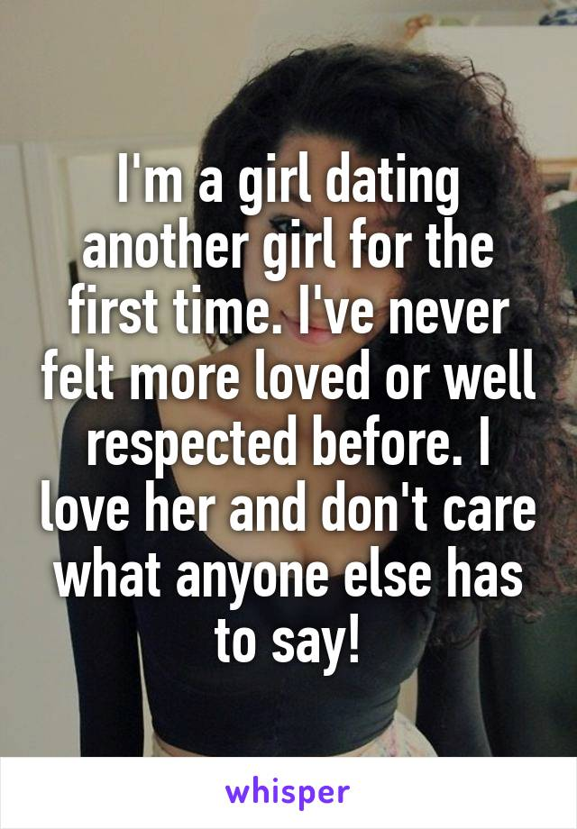 Girl dating a girl for the first time