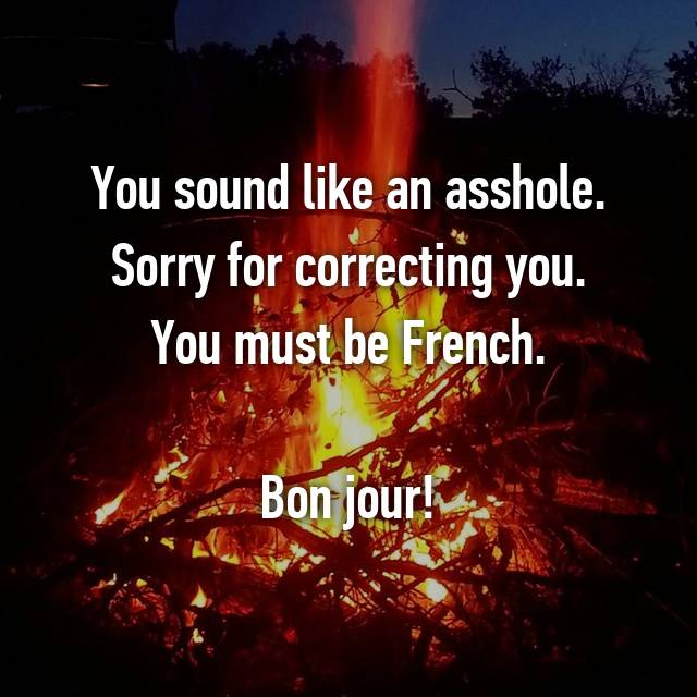 Asshole in french