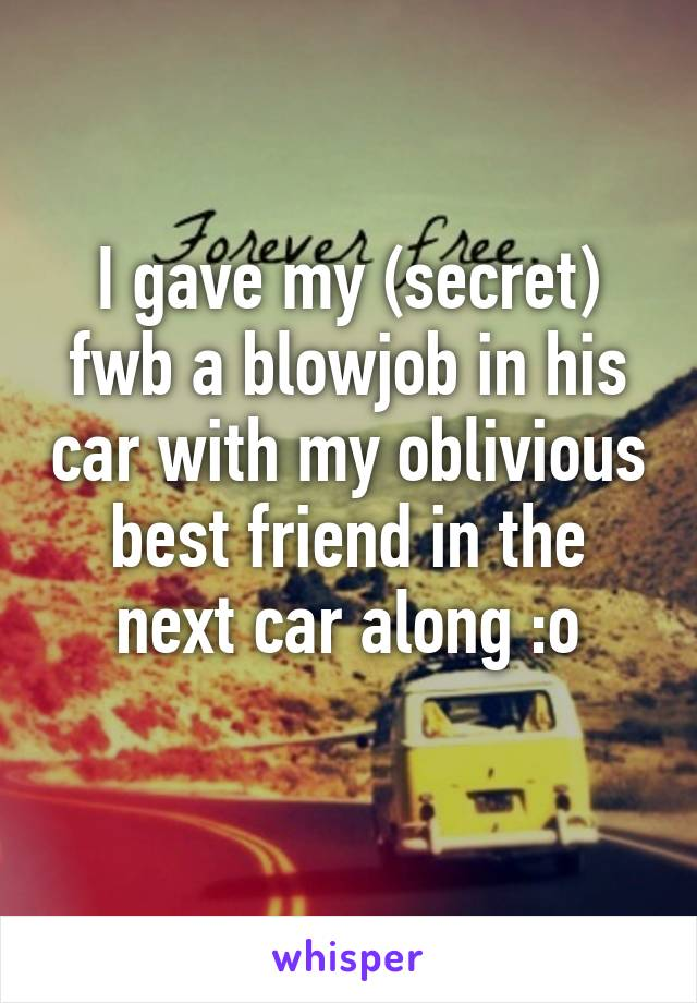 Best Friend Blowjob Car
