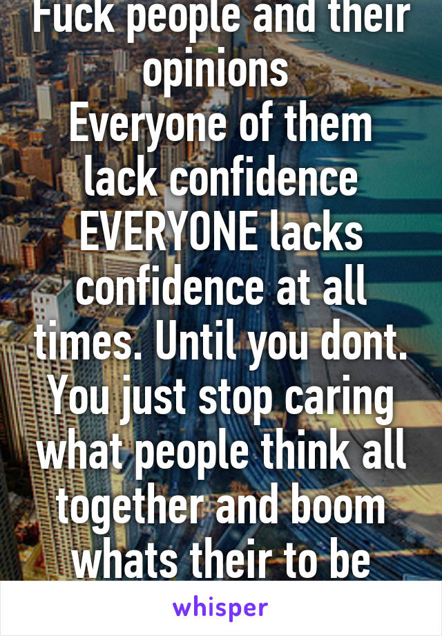 people who lack confidence