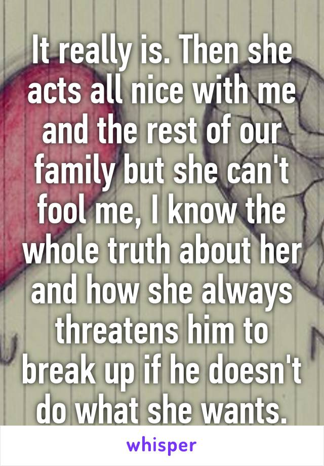 Threatens up break always to she How to