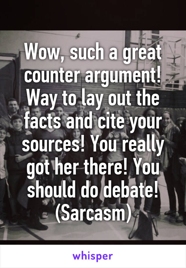 debate counter argument