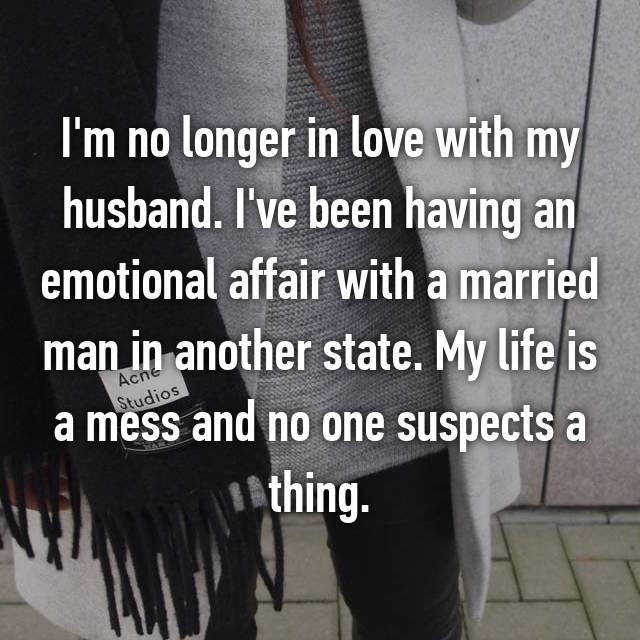 Emotional affair with a married man