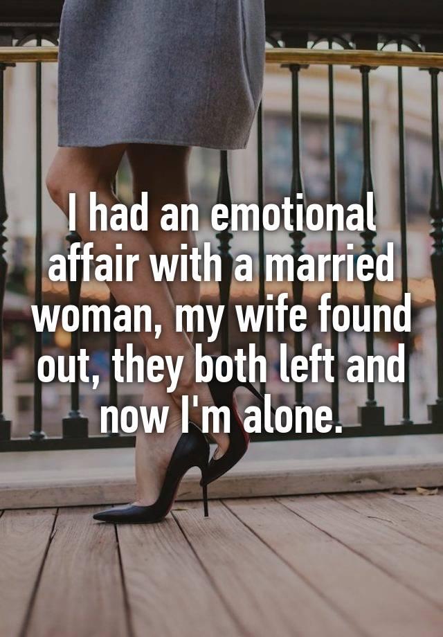 my wife found out i had an affair