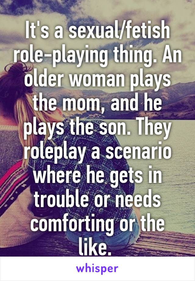 Mom and son role play