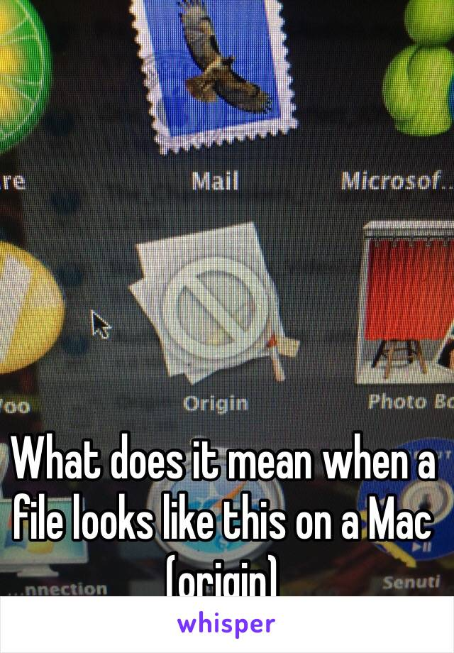 What does it mean when a file looks like this on a Mac (origin)