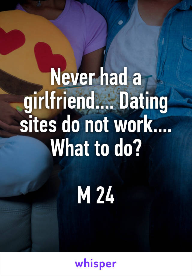 Never had a girlfriend.... Dating sites do not work.... What to do?  M 24