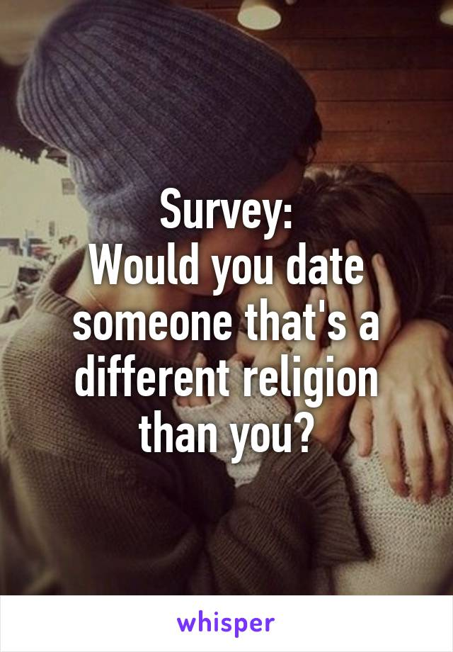 Dating someone of a different religion