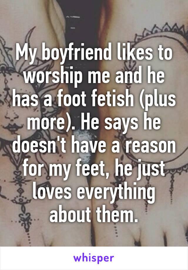 guy loves feet