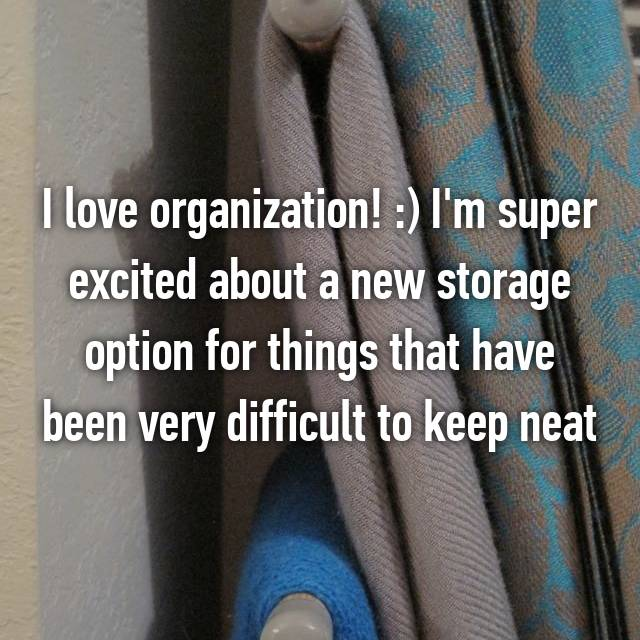 I love organization! :) I'm super excited about a new storage option for things that have been very difficult to keep neat
