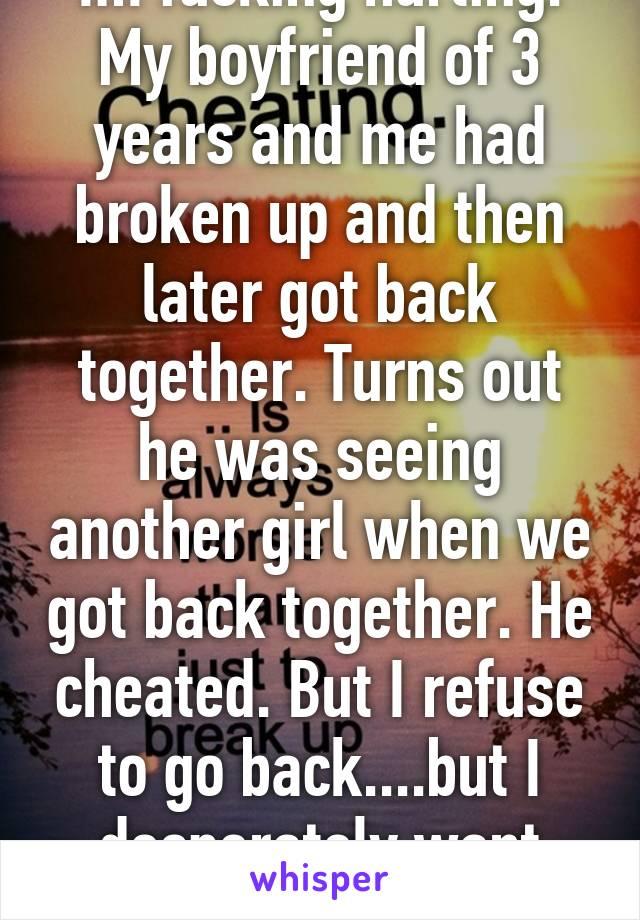 Boyfriend Of 3 On Cheated Me Years My