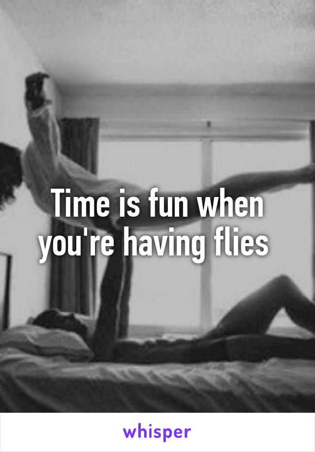 Time is fun when you're having flies