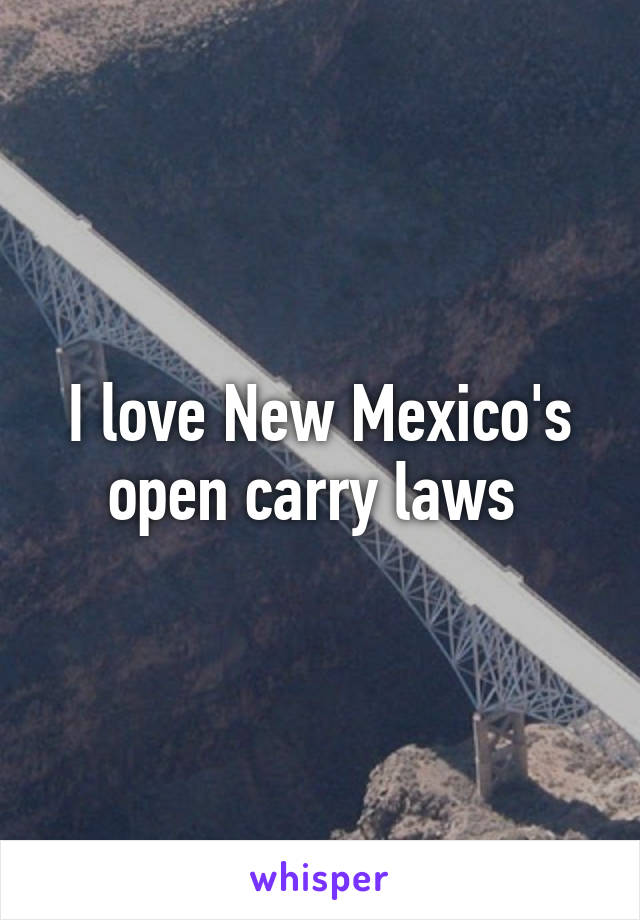 I love New Mexico's open carry laws