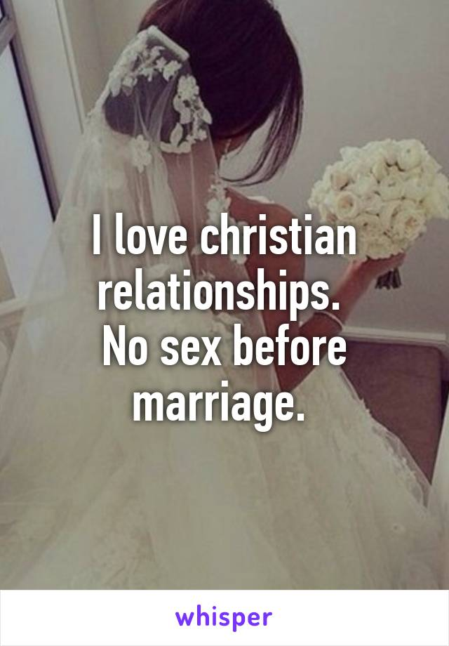 No sex in a christia marriage