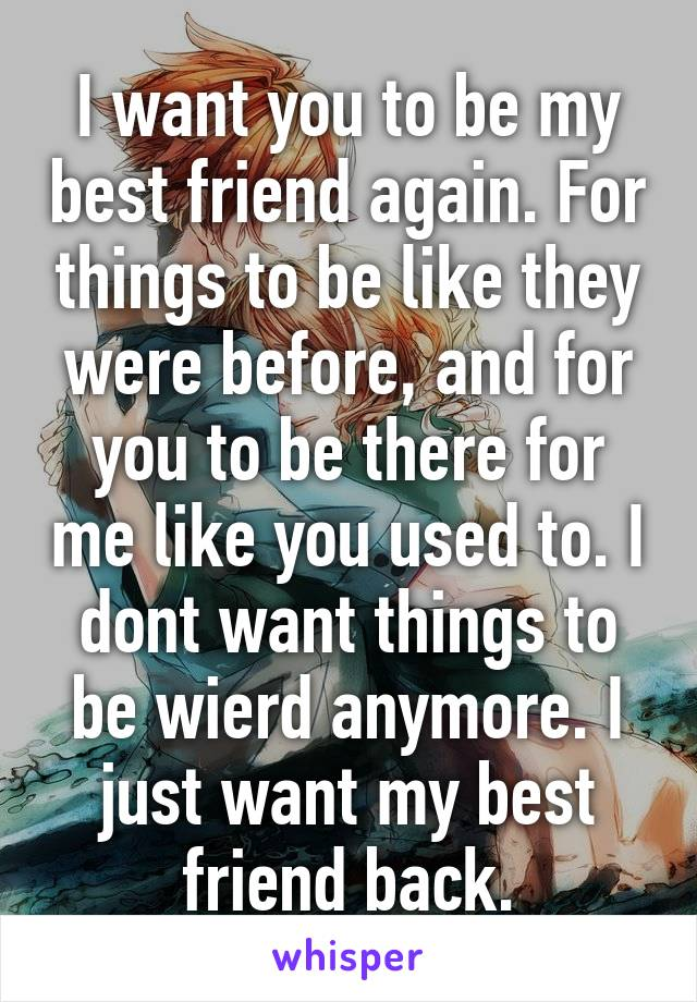 I want to blow my best friend