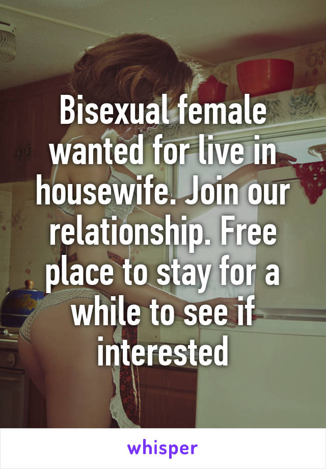 Bisexual house wife