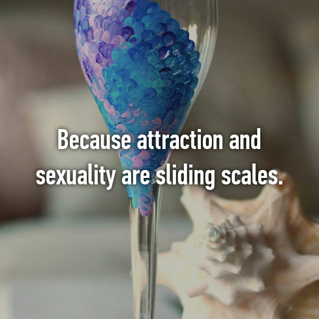 Because attraction and sexuality are sliding scales.