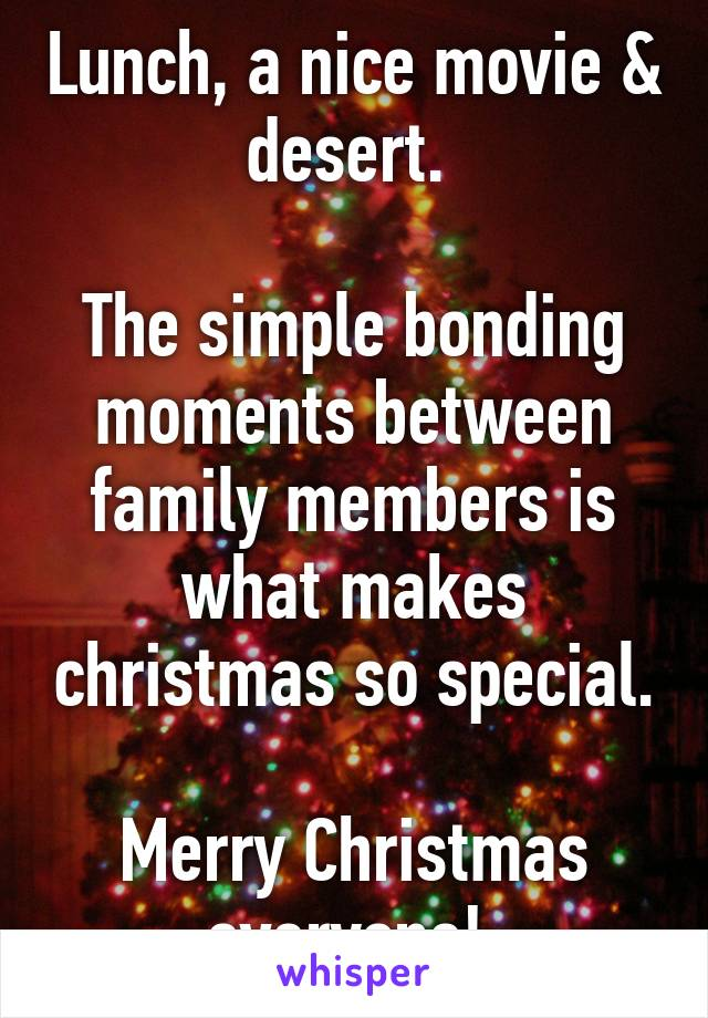 The Simple Bonding Moments Between Family Members Is What Makes Christmas  ...