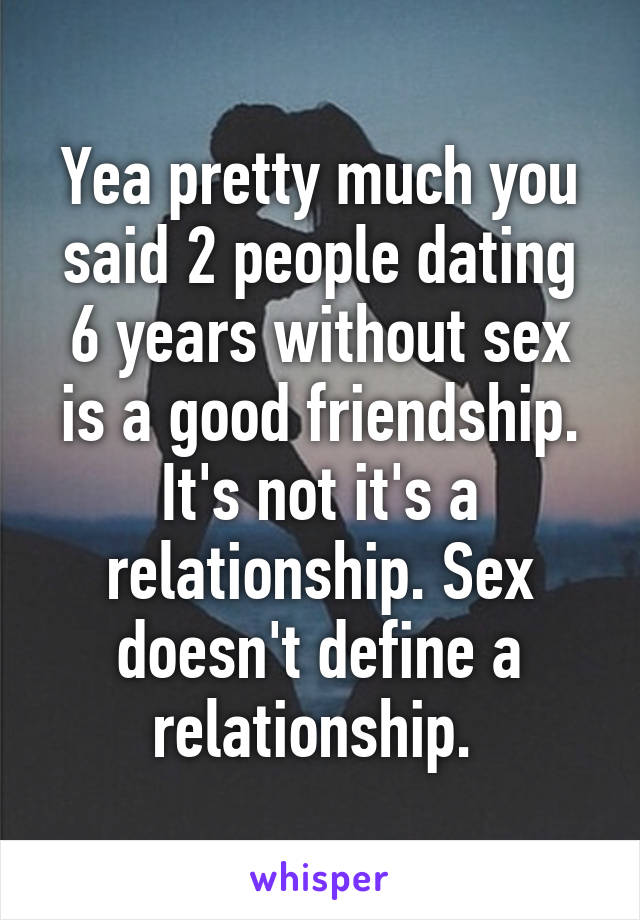 Relationship without dating