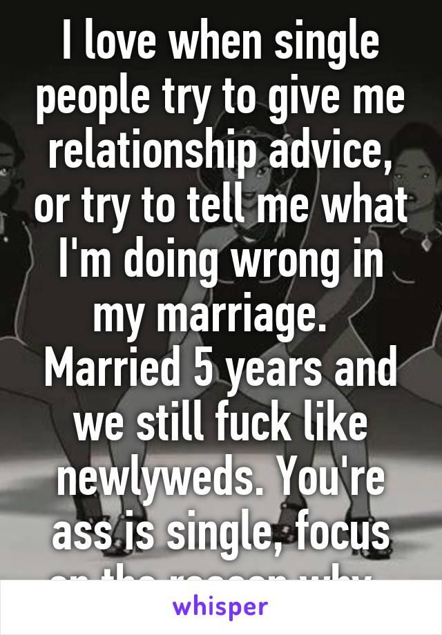 Advice for single people