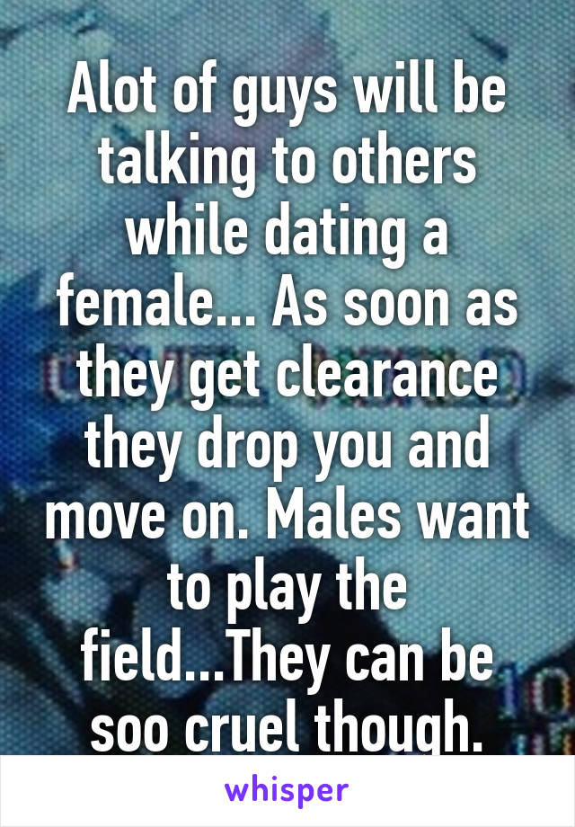 How to play the field in dating