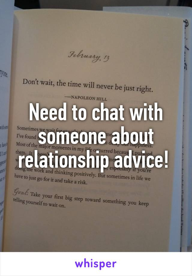 Relationship advice for women chat