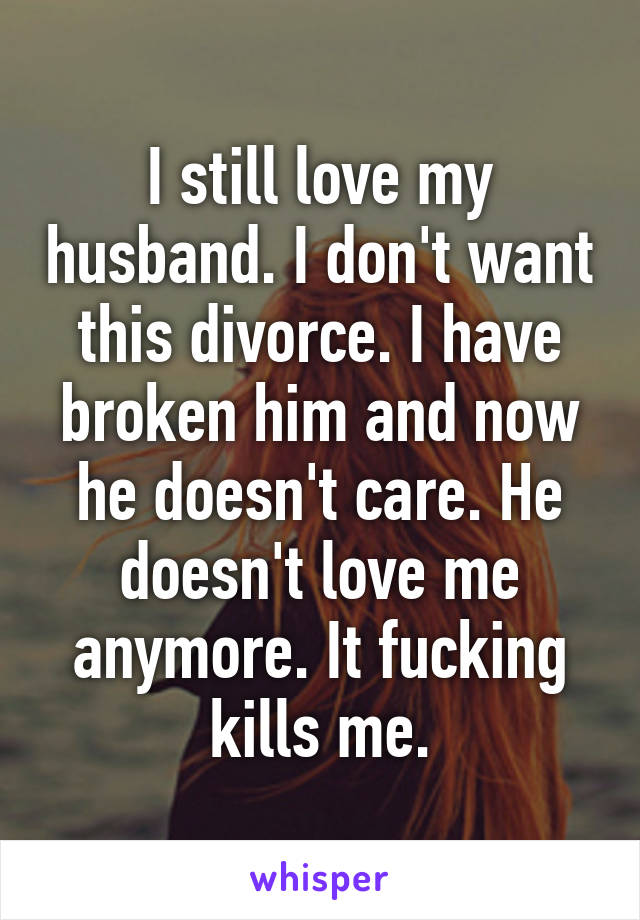 I don t want a divorce