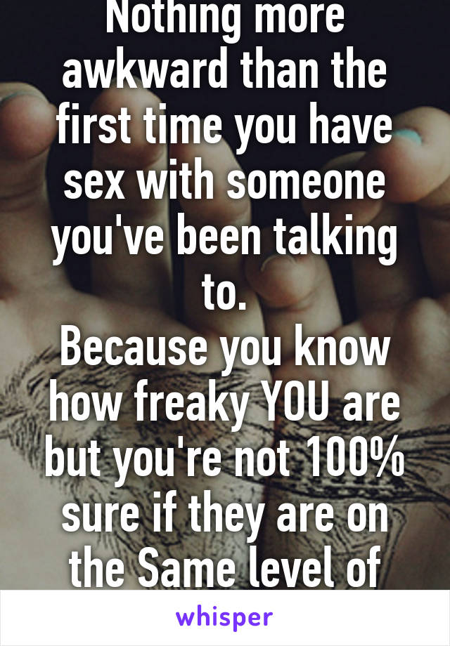 Talking about sex when you meet someone