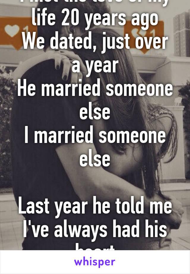 When Else Dating We Met Someone