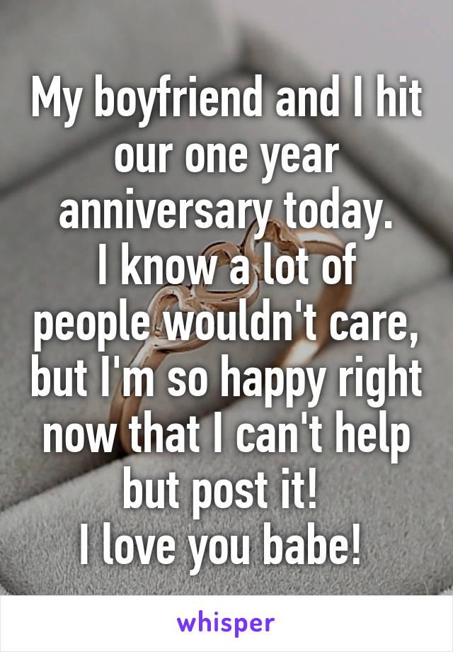 Happy one year anniversary babe