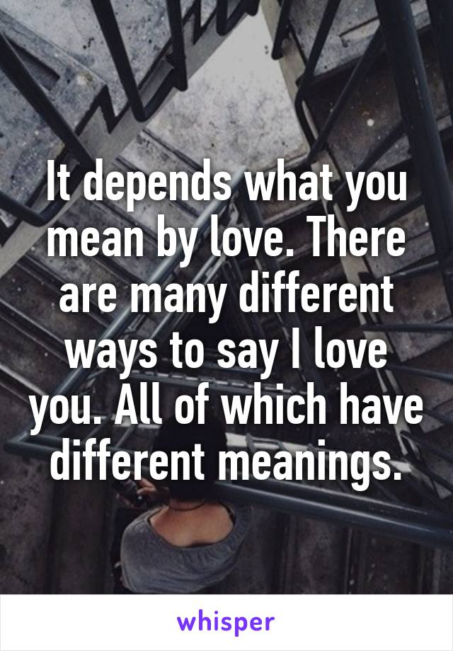 what u mean by love